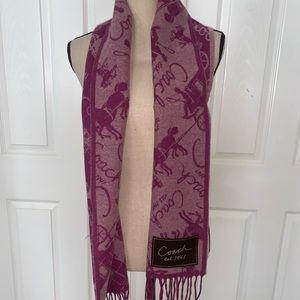 Coach cashmere scarf